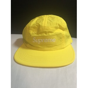 Supreme Raised Logo Patch Camp Cap Yellow M/L SS18 New  eb-58625443