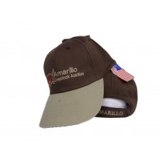 Texas Amarillo Livestock Auction Brown and Khaki Embroidered Cap Hat   eb-51133709