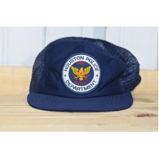 VINTAGE CAP HOUSTON POLICE DEPARTMENR PATCH SNAPBACK TRUCKER MESH MADE IN USA   eb-98398162