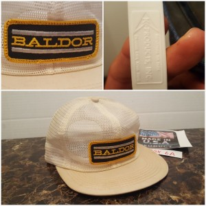 Vintage HUGE PATCH Baldor All Mesh K Brand Products Made in the USA 's AD hat  eb-45443867