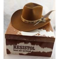 a8341bbe4f8 Vintage Resistol Stagecoach Size 7 1 8 (57) Chestnut Timber Creek Cowboy Hat