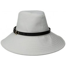 Brookline Mujer's Cotton Fedora Sun Hat Trimmed with Belt Physician Endorsed  810122023913 eb-21423512
