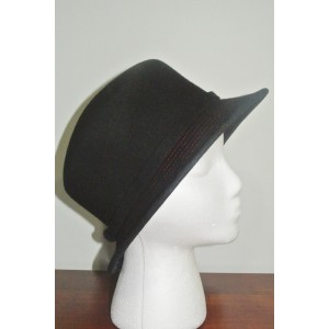 DAME MADE IN ITALY BLACK 100% WOOL HAT   eb-03192149