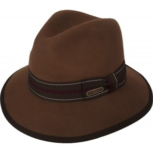's 's Fall Winter 100% Wool Felt Fedora Floppy Trilby Casual Hat Brown  eb-44414956