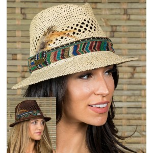 's summer Gambler Floppy Fedora Straw hats for vacation travel Beach   eb-36478376