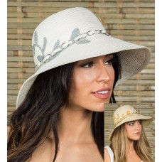 Mujer's summer wide brim  Fedoras Poly Braid hats for Beach Vacations Travel  eb-90816348