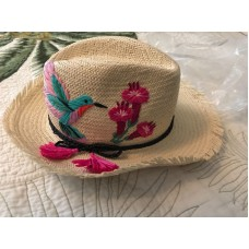 NWT Kate Spade Hummingbird Trilby Embroidered Straw Hat $128  eb-56394429