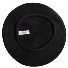 "Beret  ""Artist's  100% Cotton  BLACK Ideal fabric for summer  11"" diameter 634972573219 eb-21243648"