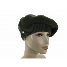 Laulhere French 100% Wool Soft Beret Hat La Parisienne Khaki Made In France  eb-78120766