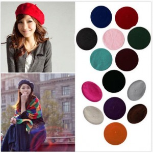 Sweet Warmer Winter Beret French Artist Beanie Hat Ski Solid Color Caps  eb-92424839