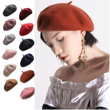 Mujers French Wool Artist Beret Cap Winter Stylish Casual Painter Trilby Hat Y63  eb-18836236