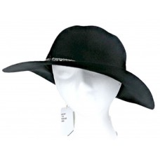 NWT BCBG BCBGeneration Hat Black Wool Chain Bead Band Adjustable Floppy  51059042527 eb-99791186