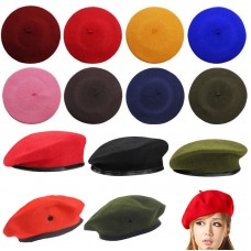 Unisex Wool Beret Beanie Hombre Mujer Uniform Cap Military Army Soldier Hat Vintage  eb-52588284