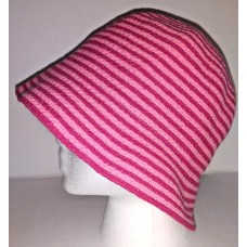 BETMAR HAT Mujers Bucket Cloche Hat Pink Stripes 100% Cotton One Size Packable  eb-54771749