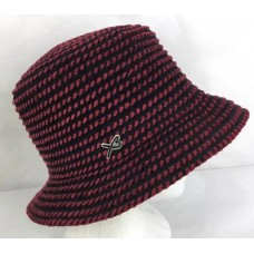 Betmar Bucket Hat Cap Black Red Striped Mujer One Size Casual  eb-75881991