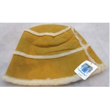 Portolano Mujer's 100% Lambskin Fur Bucket Hat Size Medium Camel Tan Beige Soft  eb-95374611