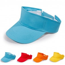1X Unisex Plain Visor Sun Cap Sport Golf Tennis Beach Sun Plain Hat Adjustable  eb-56949511