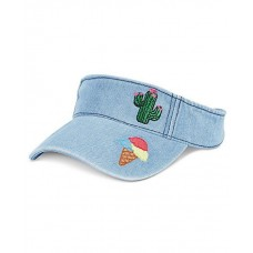 $20 twelveNYC Celebrate Shop Denim Visor With Patches  Blue (One Size) 815974025627 eb-11432331