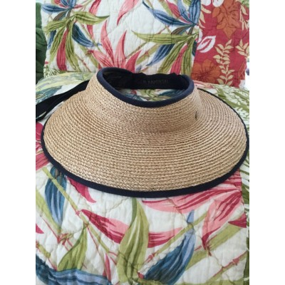 "EXCELLENT PreOwned HELEN KAMINSKI ""Mita"" Packable Raffia Visor Hat  eb-71469447"