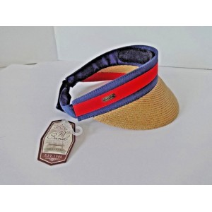 MUJER SUN N SAND VISOR HAT ONE SIZE TAN NAVY RED 651462175869 eb-89531335