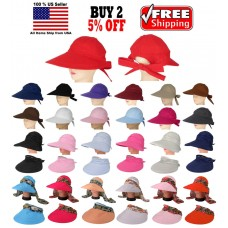 Mujer Ladies Summer Framer Large Visor Hat Cap Wide Brim Sun UV Protection  eb-02429532