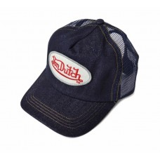 NEW VON DUTCH MUJER TRUCKER VISOR HAT CAP NAVY BLUE DENIM ONE SIZE ADJUSTABLE  eb-95452853