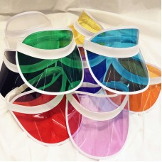 PVC Fashion Mujer Shade Cap Empty Top Sunscreen Hat Elastic Visor Beach Vacation  eb-47469496