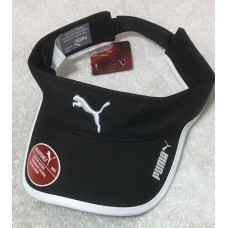 Puma Mujer's Greta Visor  Adjustable Back Black w/White Trim  (9875) 888394082624 eb-39319854