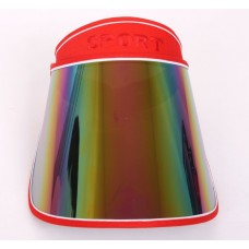 Sun Visor Cap UV Protection Sun Block Outdoor Adjustable Angle Wide Hat  RED  eb-44434294