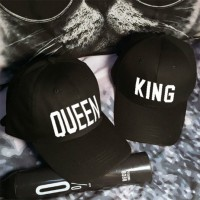 QUEEN and KING Baseball Cap Hip Hop White letter Caps Lovers Snapback Hats   eb-58881442