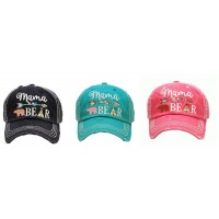 Adjustable Mama Bear Aztec Arrow Tepee Western Cap Hat Black Pink Turquoise Blue  eb-65420167