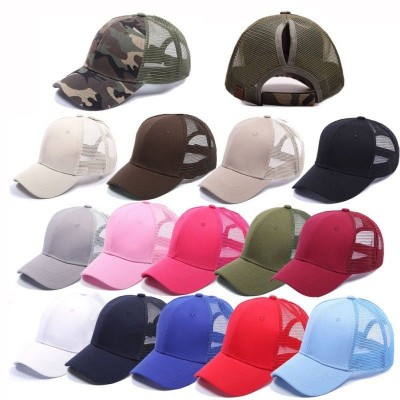 Adjustable Ponytail Baseball Cap  Snapback Hat Summer Mesh Sun Sport Caps  eb-17248866