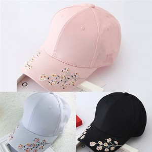 Baseball Cap Ladies Snapback Cap Hat  Embroidered Cherry blossoms Hat TO  eb-79963931