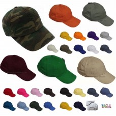 Baseball Cap Plain Solid Blank Washed Cotton Polo Style Ball Caps Army Camo Hats  eb-17687346