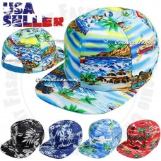 Hawaiian Snapback Baseball Cap Tropical Flat Bill Adjustable Caps Floral Hat New  eb-18903177