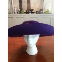 Joe Bill Miller by Michael Howard 100% purple wool hat with large ribbon Hat  eb-29228713