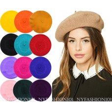 NYFASHION101® French Style Lightweight Casual Classic Solid Color Wool Beret  eb-74251237