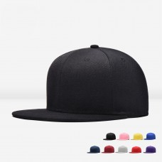 Premium Solid Fitted Cap Baseball Cap Hat  Flat Bill / Brim Adjustable NEW HOT  eb-11655059