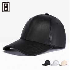 Premiums Black Leather Adjustable Motorcycle Biker Baseball Cap Hombres Mujers  eb-69562176