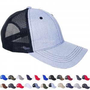 Trucker Hat Cotton Mesh Solid Washed Polo Style Baseball Cap Visor Summer   eb-22405936