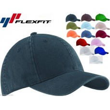 2 PACK Flexfit Garment Washed Fitted Baseball Hat Blank Plain Cap Flex Fit 6997  eb-62722389