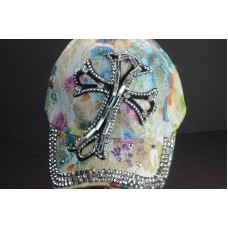 BLING WOMEN DENIM  BALL CAP WITH RHINESTONE CROSS 4  eb-41419593