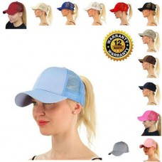 Baseball Cap Mujer Ponytail Messy Bun Tennis Sun Adjustable Mesh Snapback Hat  eb-49163834