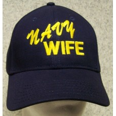Embroidered Baseball Cap Military Navy Wife NEW 1 hat  fits all 804686174075 eb-23962374