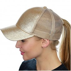 Ladies Fashion Sequins Baseball Cap Open Ponytail Flash Net Sports Shiny Hat US  eb-13066529