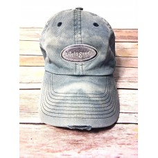 Life is Good Distressed Blue Gray Baseball Cap Hat Adjustable Strap Cotton  eb-51129107