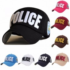 Mujer Hombre Police Officer Law Enforcement Cop Costume Baseball Ball Cap Visor Hat  eb-33380199
