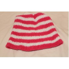 Mujer's  Pink and White Striped Beanie  SM  eb-32187274