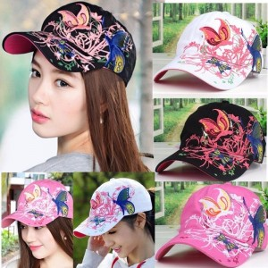 s Lady Adjustable Cap Flowers Butterfly Embroider Baseball Ball Golf Hats  eb-32970674