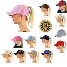 Navy Blue Baseball Cap Snapback Tennis Mujer Messy Ponytail For Nylon  eb-52884461